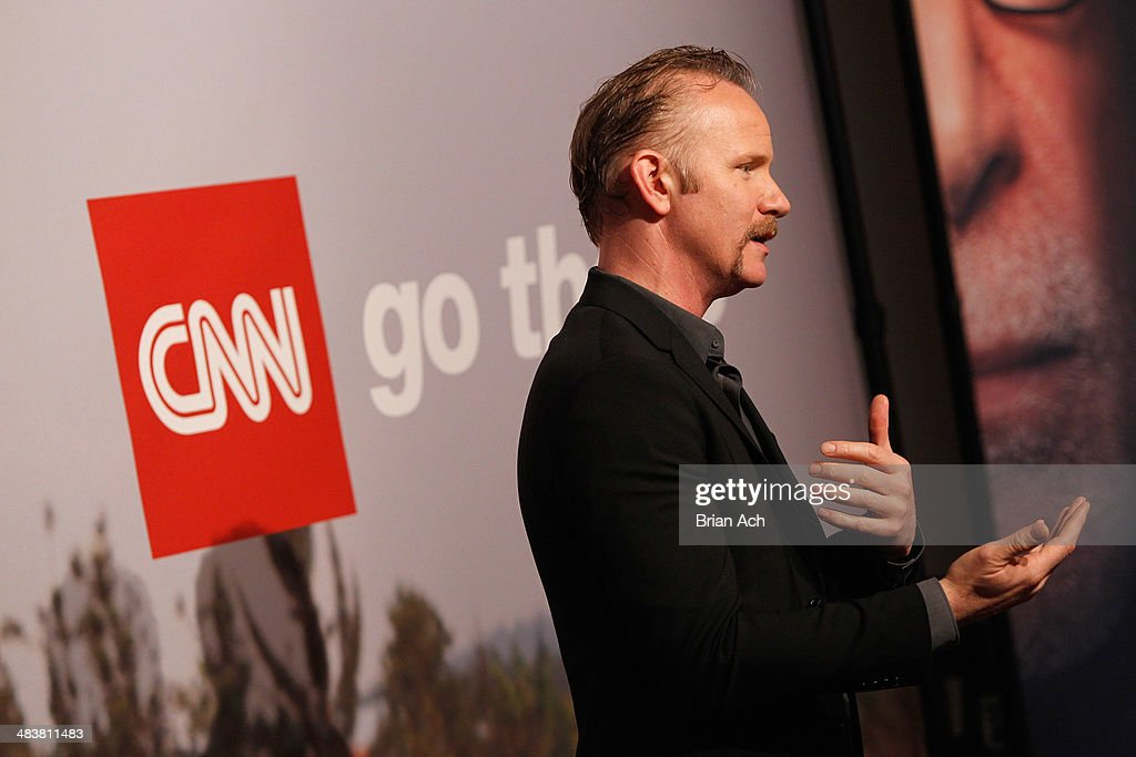 <a gi-track='captionPersonalityLinkClicked' href=/galleries/search?phrase=Morgan+Spurlock&family=editorial&specificpeople=212719 ng-click='$event.stopPropagation()'>Morgan Spurlock</a> attends the CNN Upfront 2014 at Skylight Modern on April 10, 2014 in New York City. 24679_003_0291.JPG
