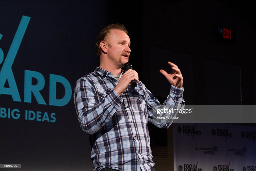 Morgan Spurlock attends the GE / Focus Forward - Short Films Big Ideas Filmmaker Competition Awards Ceremony - 2013 Park City on January 22, 2013 in Park City, Utah.