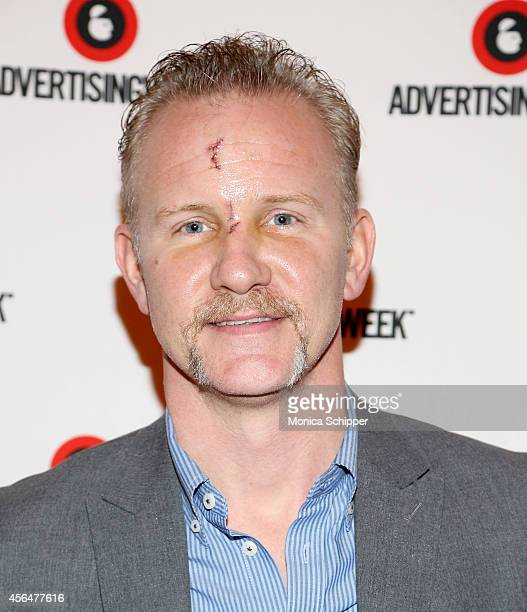 Morgan Spurlock attends the Living in a Short Form World panel during AWXI on October 1 2014 in New York City