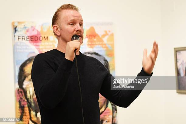 Morgan Spurlock attends the ThirtyThree Celebrating 33 Years Of The Independent Spirit Sundance Film Festival Exhibit at Kimball Art Center on...
