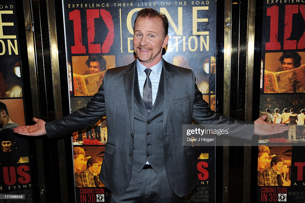 <a gi-track='captionPersonalityLinkClicked' href=/galleries/search?phrase=Morgan+Spurlock&family=editorial&specificpeople=212719 ng-click='$event.stopPropagation()'>Morgan Spurlock</a> attends the world premiere of 'One Direction - This Is Us' at The Empire Leicester Square on August 20, 2013 in London, England.