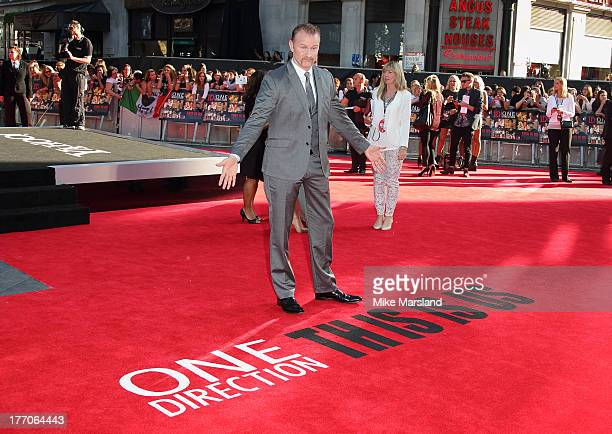 Morgan Spurlock attends the World Premiere of 'One Direction This Is Us' at Empire Leicester Square on August 20 2013 in London England