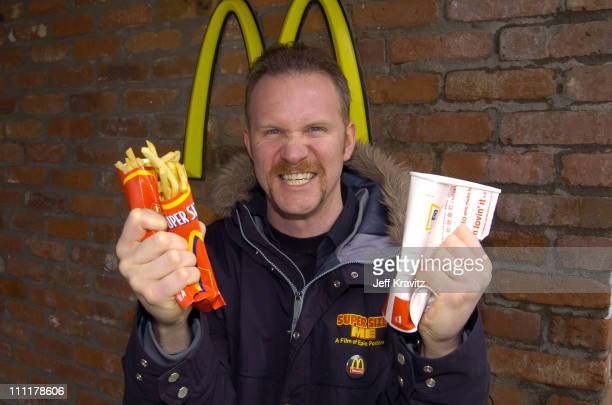 Morgan Spurlock during The 10th Annual US Comedy Arts Festival 'Super Size Me' Star Morgan Spurlock at McDonalds at McDonalds in Aspen Colorado...