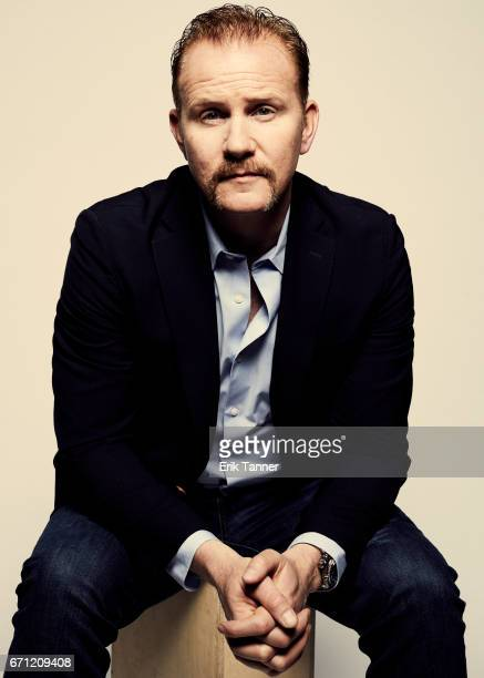 Morgan Spurlock from 'No Man's Land' poses at the 2017 Tribeca Film Festival portrait studio on April 21 2017 in New York City