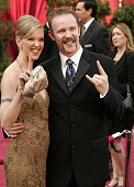 Morgan Spurlock nominee Best Documentary Feature for 'Super Size Me' and fiancee Alexandra Jamieson
