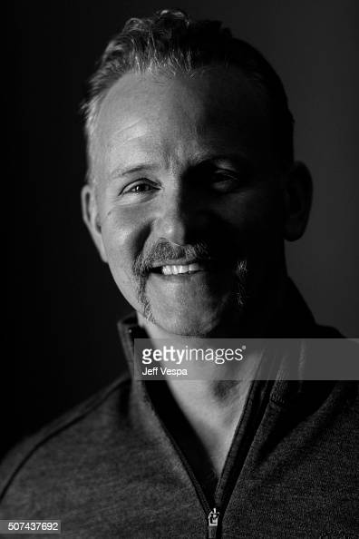 Morgan Spurlock of 'Eagle Huntress' poses for a portrait at the 2016 Sundance Film Festival on January 22 2016 in Park City Utah