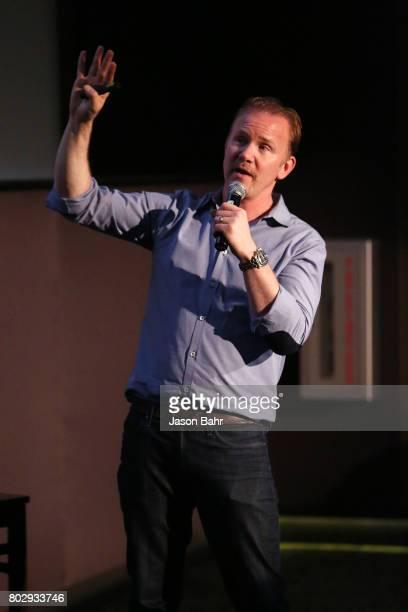 Morgan Spurlock speaks during the Warrior Poets panel discussion for SeriesFest Season 3 at Sie FilmCenter on June 28 2017 in Denver Colorado
