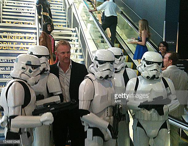 Morgan Spurlock stands with models decked out as Star Wars Stormtroopers for the Toronto International Film Festival premiere of his new documentary...