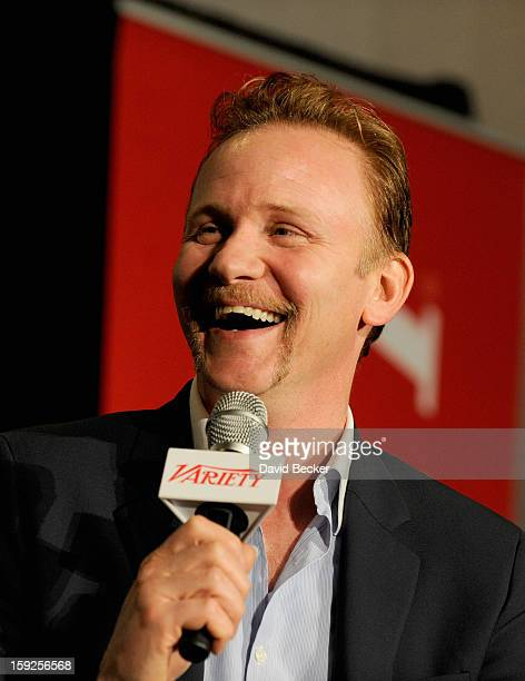Morgan Spurlock Writer Director Producer appears onstage during Variety Entertainment Summit at The 2013 International CES at Las Vegas Convention...