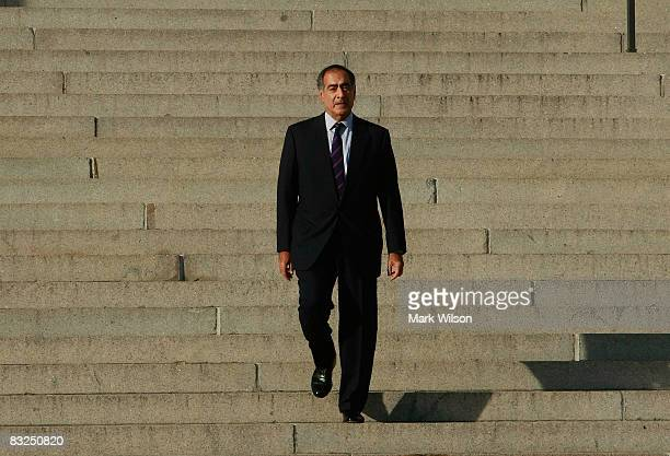 Morgan Stanley CEO John Mack leaves a meeting at the Treasury Department October 13 2008 in Washington DC US Treasury Secretary Henry Paulson invited...