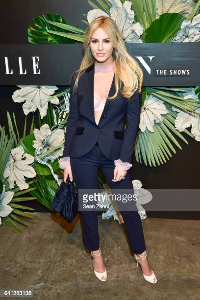 Morgan Stewart at ELLE E And IMG Host New York Fashion Week February 2017 KickOff Event at 40 Bethune Street on February 8 2017 in New York City