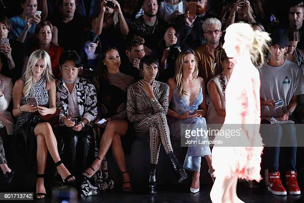 Morgan Stewart Ezra Day Williams Dorothy Wang Elisa Johnson and Katie Cassidy attend Tadashi Shoji show on September 2016 New York Fashion Week The...