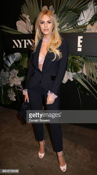 Morgan Stewart of Rich Kids of Beverly Hills attends E ELLE IMG celebration to kickoff NYFW The Shows on February 8 2017 in New York City