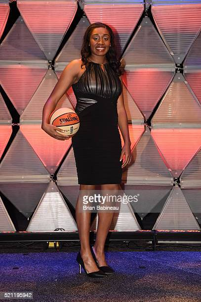 Morgan Tuck poses for a portrait during the 2016 WNBA Draft Presented By State Farm on April 14 2016 at Mohegan Sun Arena in Uncasville Connecticut...