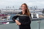 Morgan Uceny of the United States at the adidas Olympic Media Lounge at Westfield Stratford City on August 4 2012 in London England