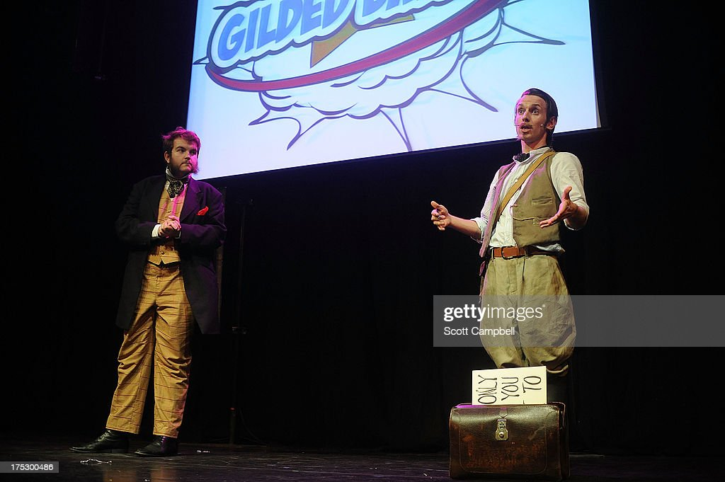 Morgan & West perform during the Gilded Balloon press launch at The Edinburgh Festival Fringe on August 1, 2013 in Edinburgh, Scotland.