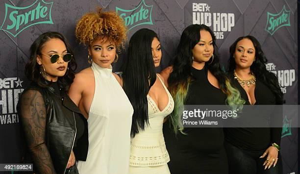 Morgan Westbrooks Crystal Westbrooks India Love Westbrooks Bree Candice Westbrooks and Brooke Westbrooks attend 2015 BET Hip Hop awards at...