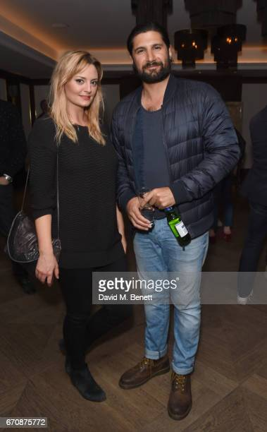 Morgana Robinson and Kayvan Novak attend a gala screening of 'Mindhorn' at the May Fair Hotel on April 20 2017 in London England