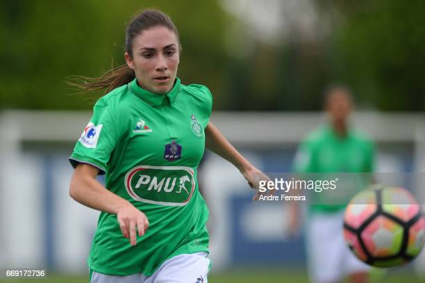 Morgane Martins of Saint Etienne during the women's National Cup match between Paris Saint Germain PSG and AS Saint Etienne at Camp des Loges on...