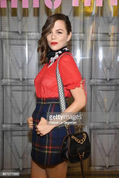 Morgane Polanski attends the Miu Miu show as part of the Paris Fashion Week Womenswear Spring/Summer 2018 on October 3 2017 in Paris France