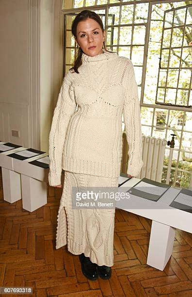 Morgane Polanski attends the Pringle Of Scotland Womenswear Spring/Summer 2017 LFW Show at One Marylebone on September 19 2016 in London England
