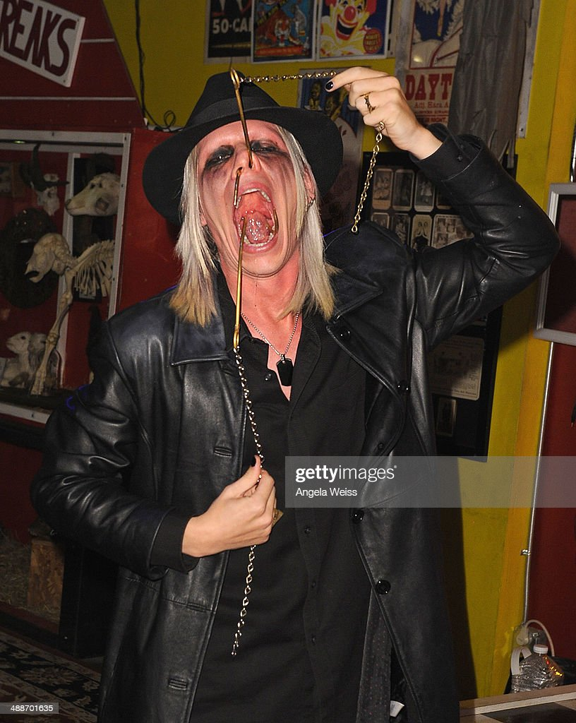 Morgue poses at AMC's 'Freakshow' cast meet and greet on May 7 2014 in Venice California