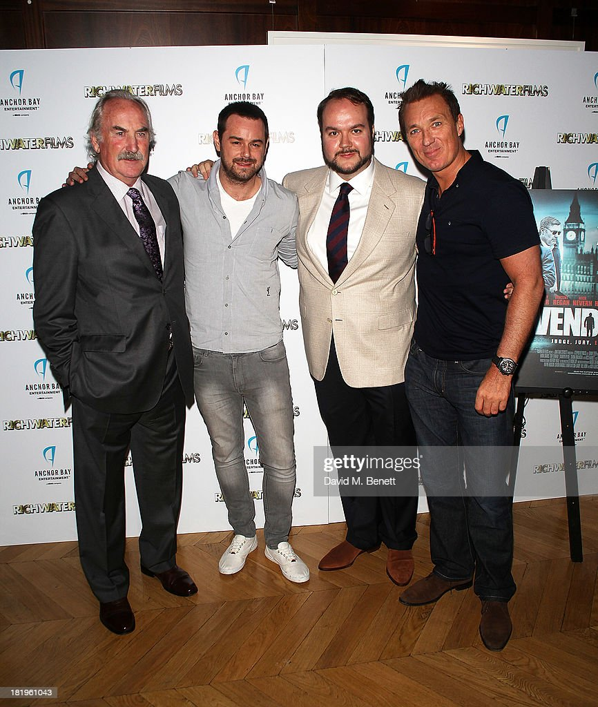P.H. Moriarty, <a gi-track='captionPersonalityLinkClicked' href=/galleries/search?phrase=Danny+Dyer+-+Actor&family=editorial&specificpeople=15358895 ng-click='$event.stopPropagation()'>Danny Dyer</a>, Jonathan Sothcott and <a gi-track='captionPersonalityLinkClicked' href=/galleries/search?phrase=Martin+Kemp&family=editorial&specificpeople=213385 ng-click='$event.stopPropagation()'>Martin Kemp</a> attend a drinks reception celebrating the new co-production agreement between Anchor Bay Films and Richwater Films at The Groucho Club on September 26, 2013 in London, England.