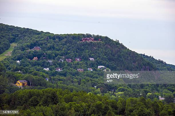 MorinHeights is seen on July 3 2012 in the Laurentian Mountains region of Quebec Canada MorinHeights is primarily a tourist town having a large ski...