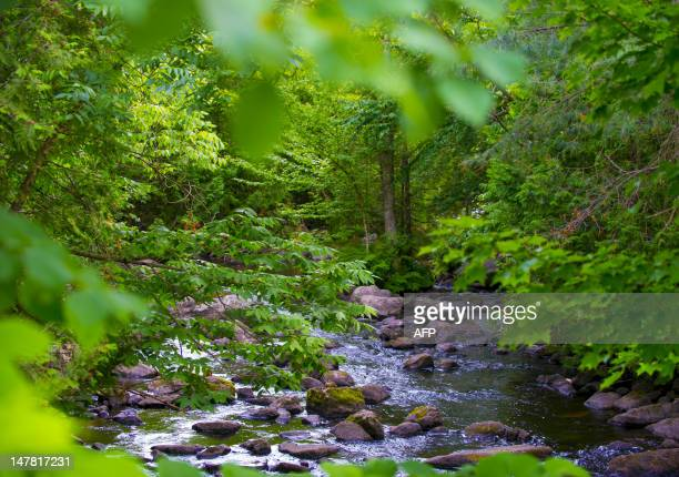 MorinHeights near Lake Echo is seen on July 3 2012 in the Laurentian Mountains region of Quebec Canada MorinHeights is primarily a tourist town...