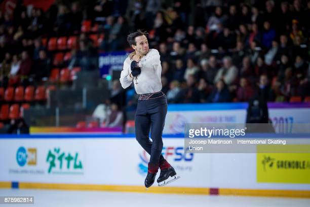 Moris Kvitelashvili of Georgia competes in the Men's Free Skating during day two of the ISU Grand Prix of Figure Skating at Polesud Ice Skating Rink...