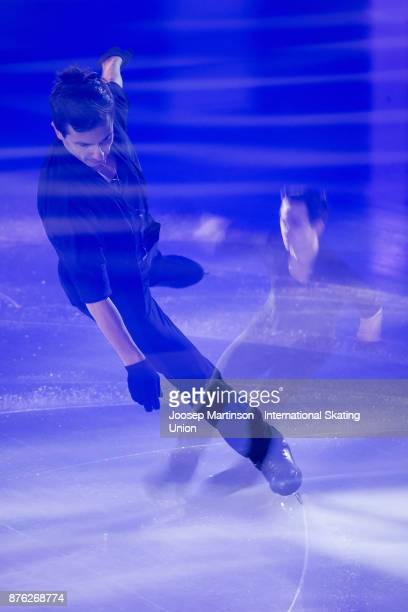 Moris Kvitelashvili of Georgia performs in the Gala Exhibition during day three of the ISU Grand Prix of Figure Skating at Polesud Ice Skating Rink...