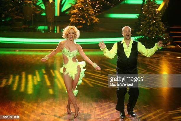 Moritz A Sachs and Isabell Edvardsson attends the 'Let's Dance Let's Christmas' Show on December 20 2013 in Cologne Germany