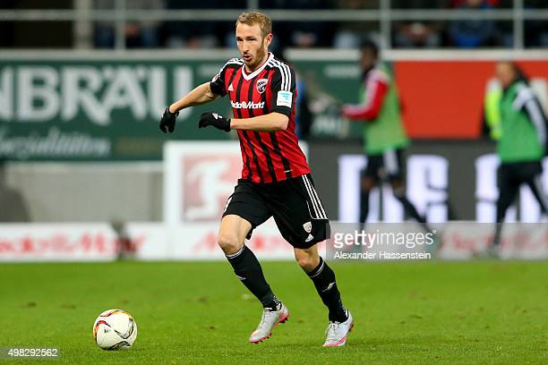 Moritz Hartmann of Ingolstadt runs with the ball during the Bundesliga match between FC Ingolstadt and SV Darmstadt 98 at Audi Sportpark on November...
