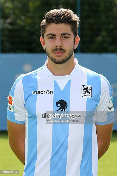 Moritz Heinrich poses during the official team presentation of TSV 1860 Muenchen at Trainingsgelaende on July 22 2016 in Munich Germany
