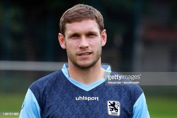 Moritz Volz of 1860 Muenchen poses during the Second Bundesliga team presentation of TSV 1860 Muenchen on July 11 2012 in Munich Germany