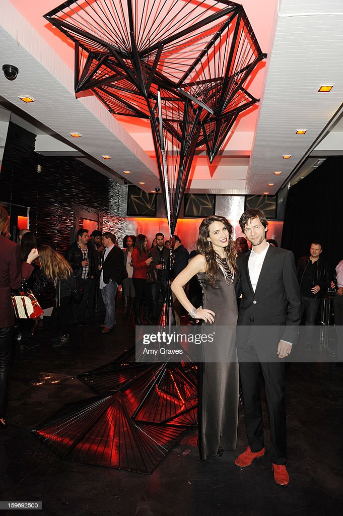 Moritz Wardemeyer and Ivana Korav attend the Beck's Sapphire Launch Event on January 17, 2013 in Beverly Hills, California.