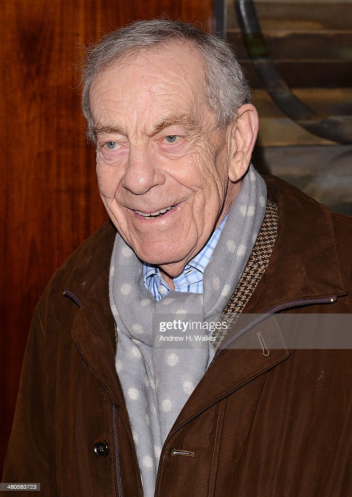 <a gi-track='captionPersonalityLinkClicked' href=/galleries/search?phrase=Morley+Safer&family=editorial&specificpeople=208905 ng-click='$event.stopPropagation()'>Morley Safer</a> attends the 'The Unknown Known' screening at Museum of Art and Design on March 25, 2014 in New York City.