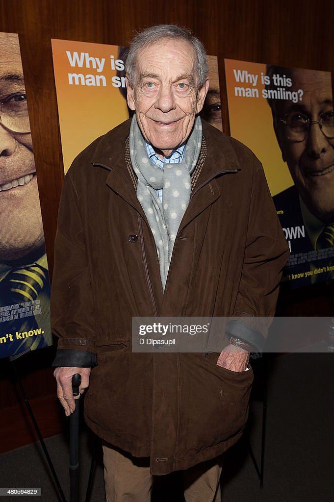 <a gi-track='captionPersonalityLinkClicked' href=/galleries/search?phrase=Morley+Safer&family=editorial&specificpeople=208905 ng-click='$event.stopPropagation()'>Morley Safer</a> attends 'The Unknown Known' screening at the Museum Of Arts And Design on March 25, 2014 in New York City.