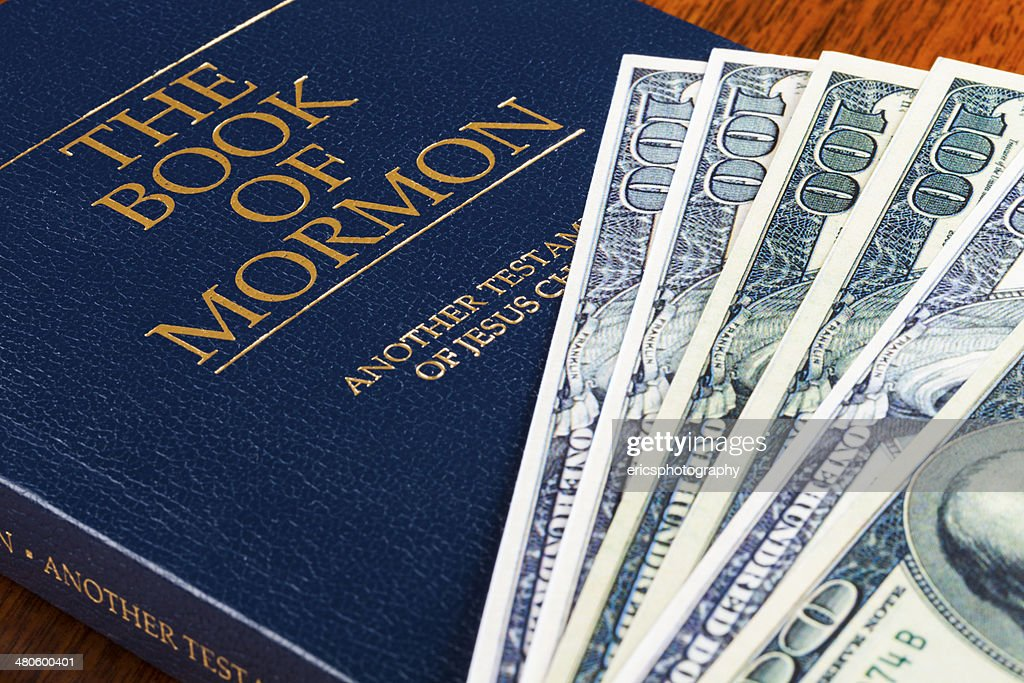 Mormons and money : Stock Photo