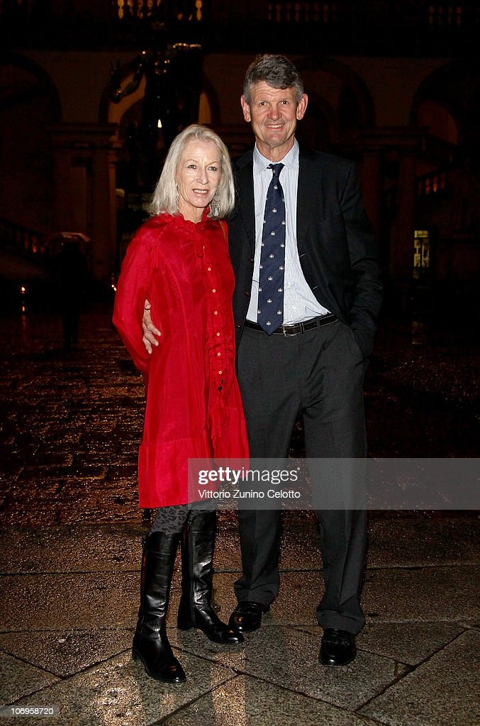 Morne du Plessis (R) and his wife Jenny du Plessis arrive at the Laureus Sport For Good Foundation Banquet held at Pinacoteca di Brera on November 18, 2010 in Milan, Italy.
