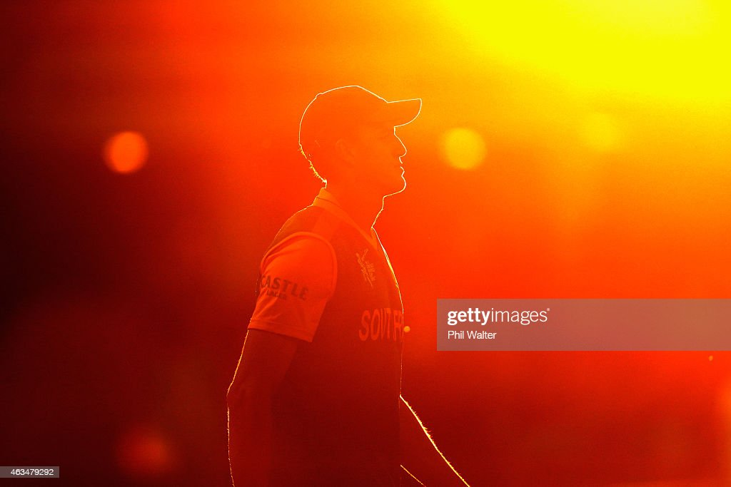 Morne Morkel of South Africa during the 2015 ICC Cricket World Cup match between South Africa and Zimbabwe at Seddon Park on February 15, 2015 in Hamilton, New Zealand.