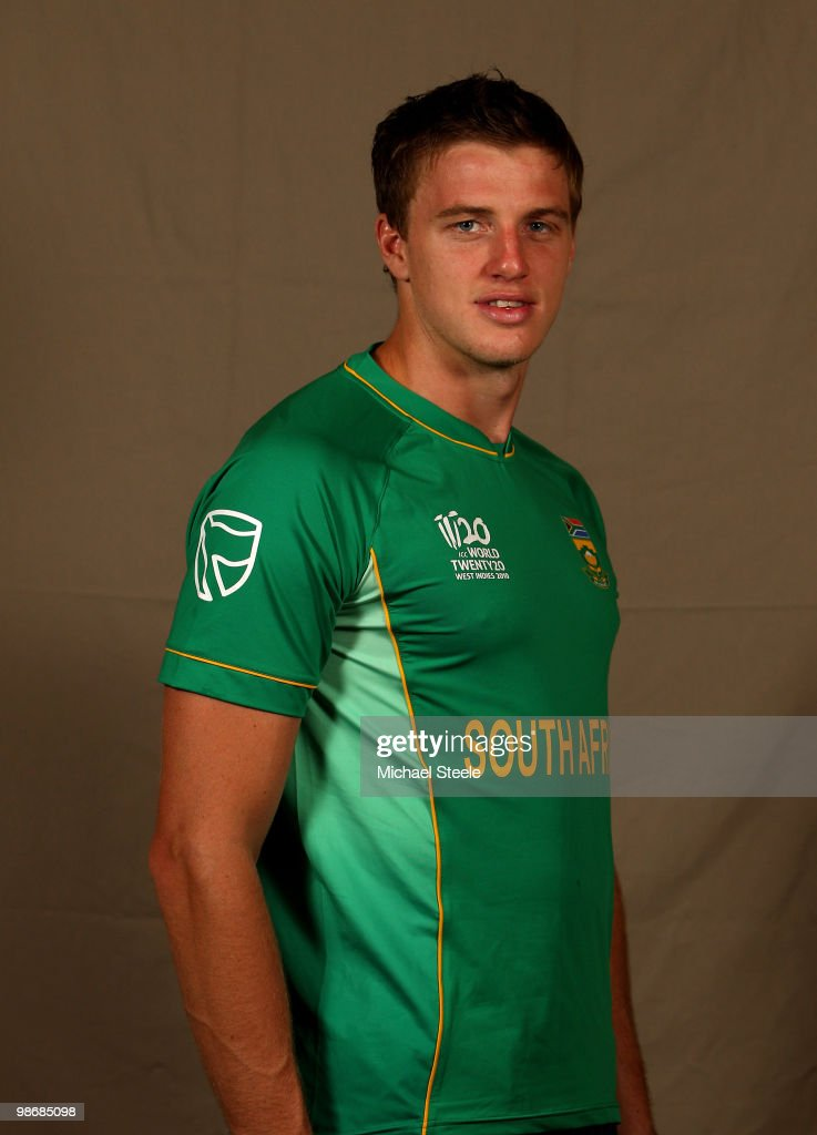 <a gi-track='captionPersonalityLinkClicked' href=/galleries/search?phrase=Morne+Morkel&family=editorial&specificpeople=4064354 ng-click='$event.stopPropagation()'>Morne Morkel</a> of South Africa T20 squad poses for a portrait, on April 26, 2010 in Bridgetown, Barbados.