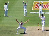 Morne Morkel of the Proteas appeals for LBW against Alex Hales of England during day 1 of the 2nd Test match between South Africa and England at PPC...