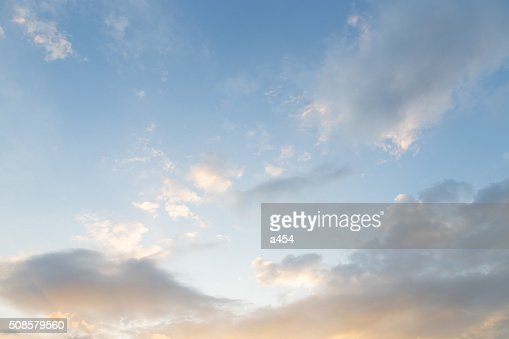 Morning clouds covered the sky : Stock Photo