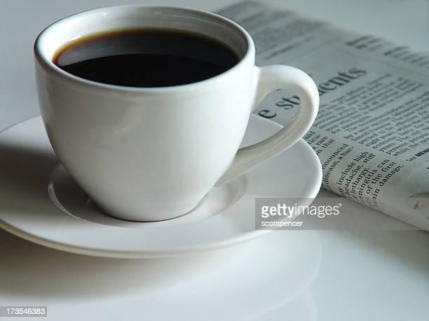 Café du matin et de papier