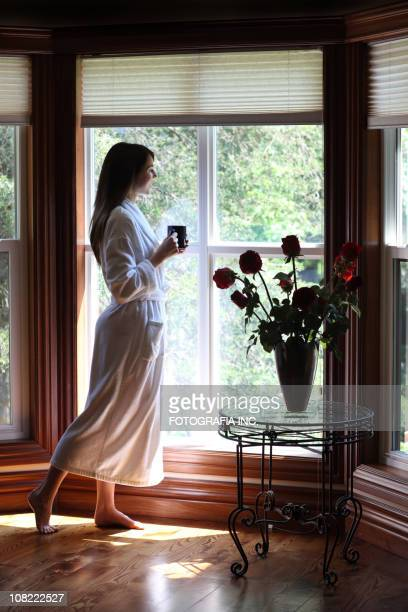 Morning coffee by the window