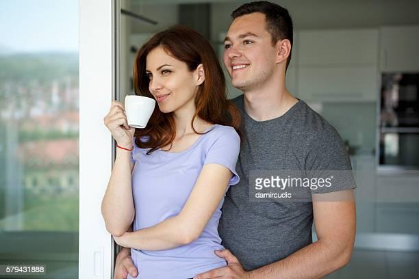 Mattina caffè con il mio amore