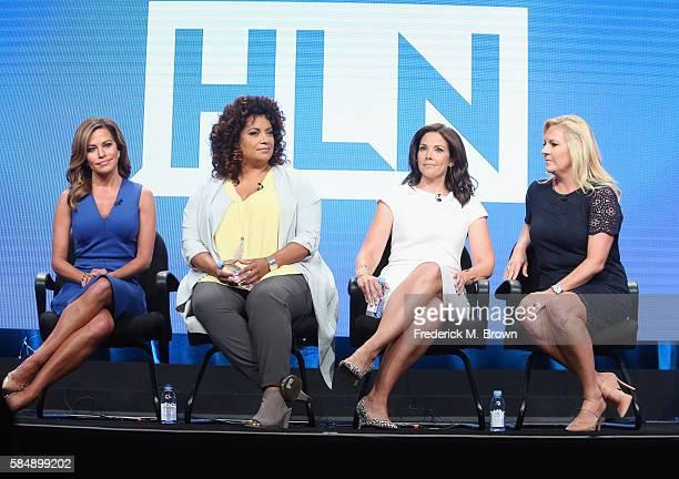 'Morning Express' host Robin Meade 'Michaela' host Michaela Pereira new HLN show host Erica Hill and HLN Vice President of Programming Stephanie Todd...