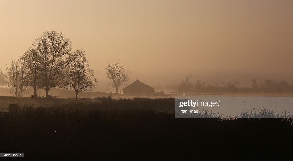 Morning fog is seen at Prado Regional Park on February 5 2015 in Chino California