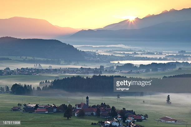 morning glory in Bayern, Deutschland